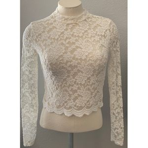 Ambiance Lace Long Sleeves Top